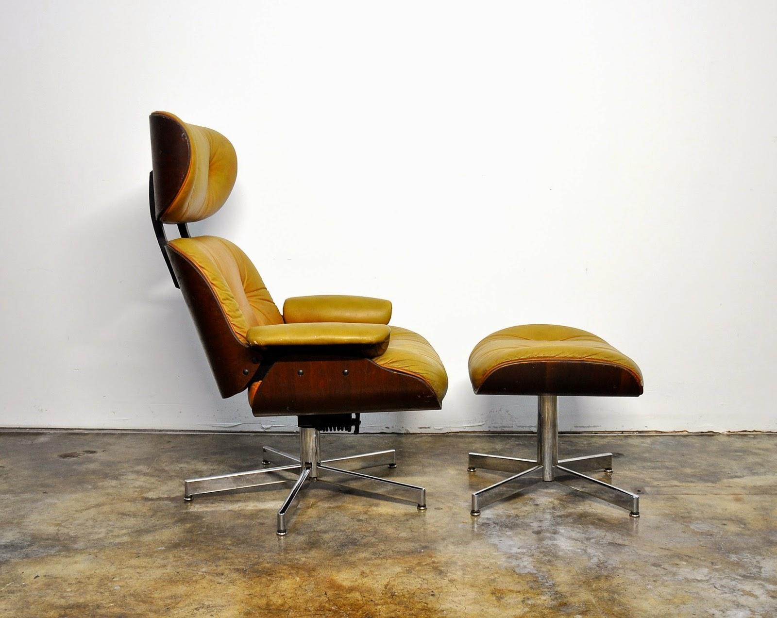Select modern eames leather lounge chair ottoman for Lounge chair eames nachbau