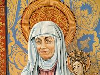 Retrat de la dona de l'Antoni Palou en el retaule de la capella de Sant Pere de Postius
