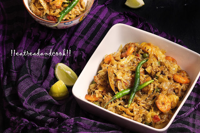 bengali style bandhakopi chingrir ghonto recipe