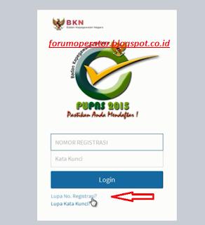 Cara Mengatasi Lupa Nomor Registrasi Pendataan E-PUPNS