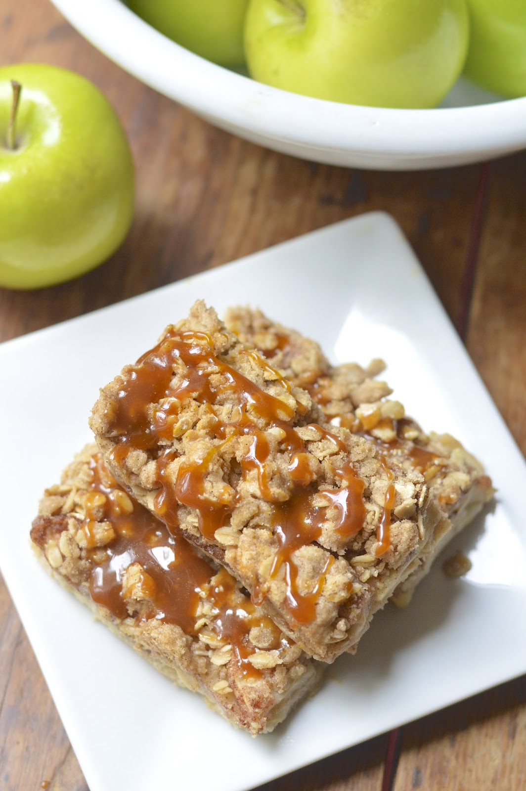 Gluten Free Salted Caramel Apple Pie Bars | Virtually ...