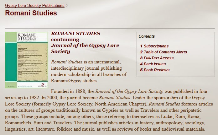 http://www.gypsyloresociety.org/gypsy-lore-society-publications/romani-studies