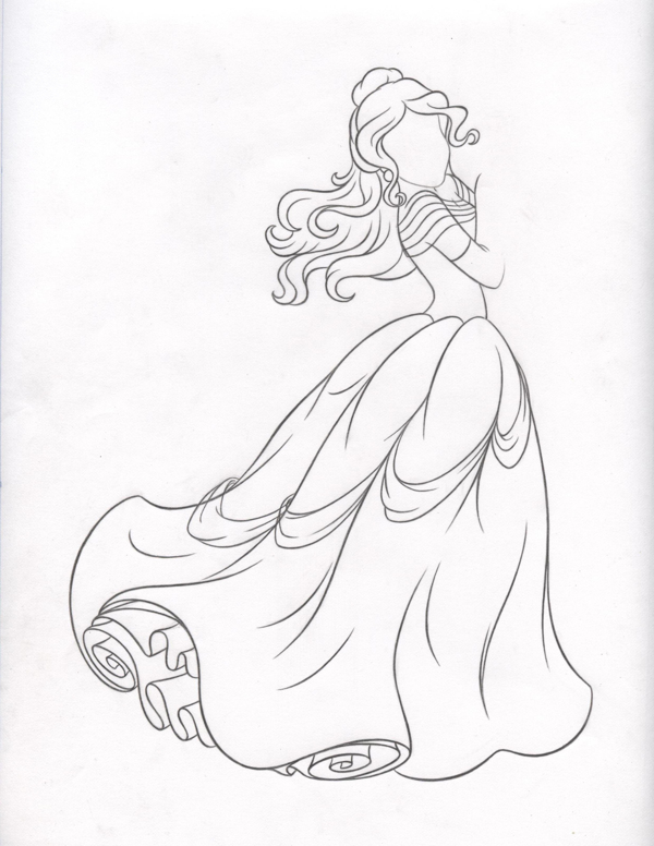 La Bella y la Bestia de Disney - Blog: Bocetos del rediseño de Bella