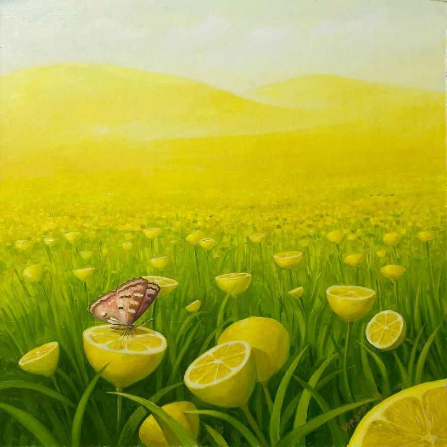 04-Fields-Of-Lemons-Vitaly-Urzhumov-Surreal-Paintings-of-the-World-of-Lemons-and-More-www-designstack-co