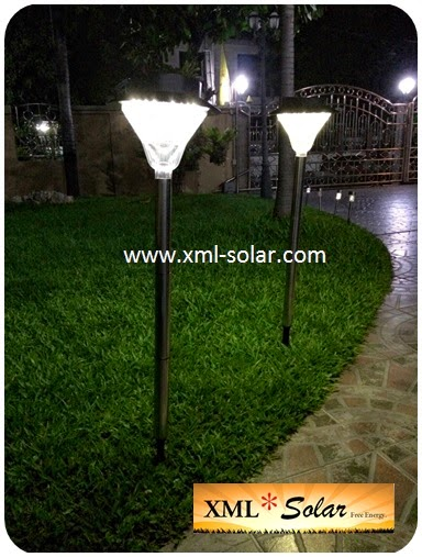 ไฟปักสนามพลังงานเเสงอาทิตย์ 24 LED