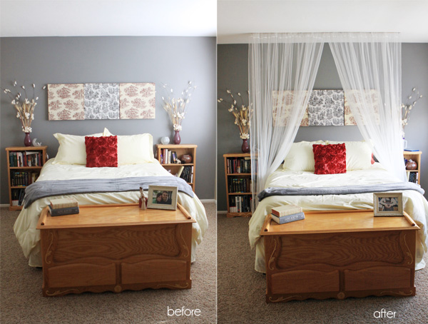 I have ALWAYS wanted a canopy bed. With huge curtains and a big fluffy bedspread. Every girl wants to be a princess right? Right? Ok maybe Iu0027m just lame. & Rosy Red Buttons: tutorial tuesday