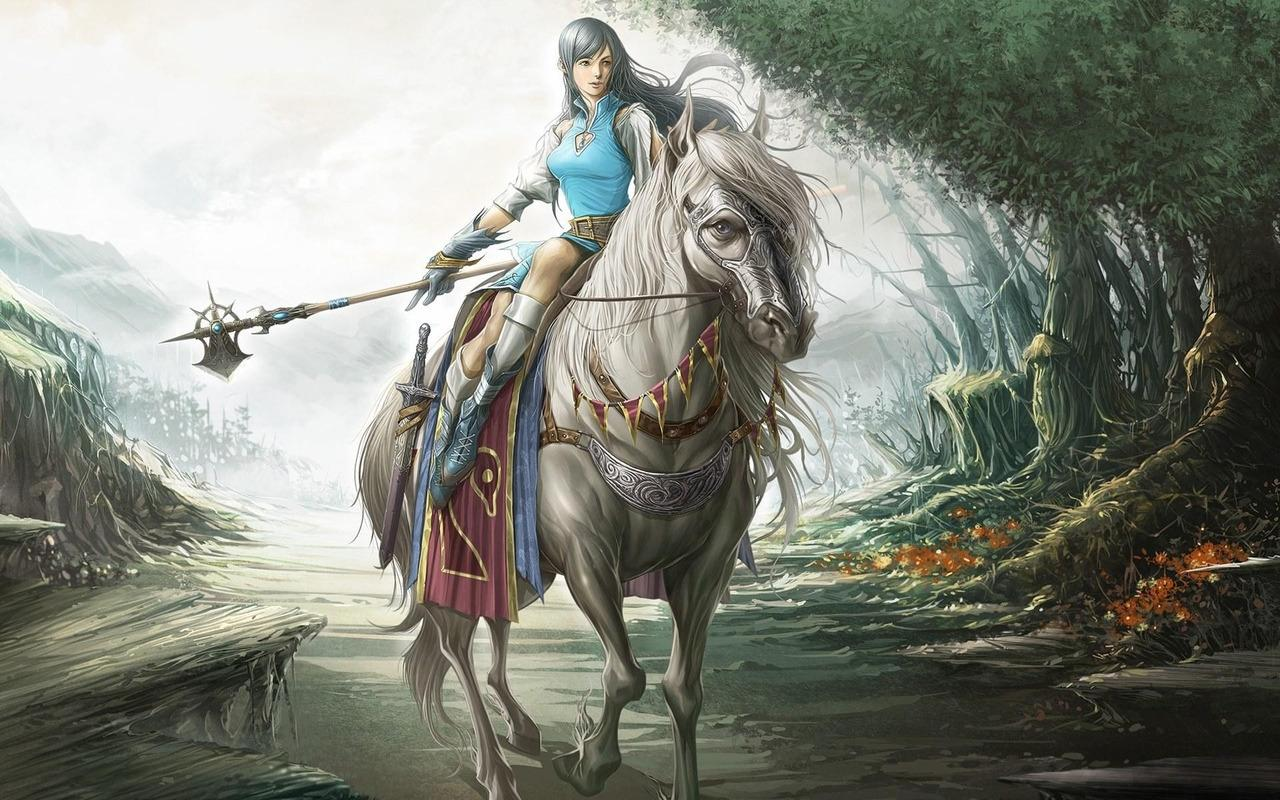Good   Wallpaper Horse Warrior - Beautiful-Warrior-Girl-by-hqwallpaper  2018_154624.jpg