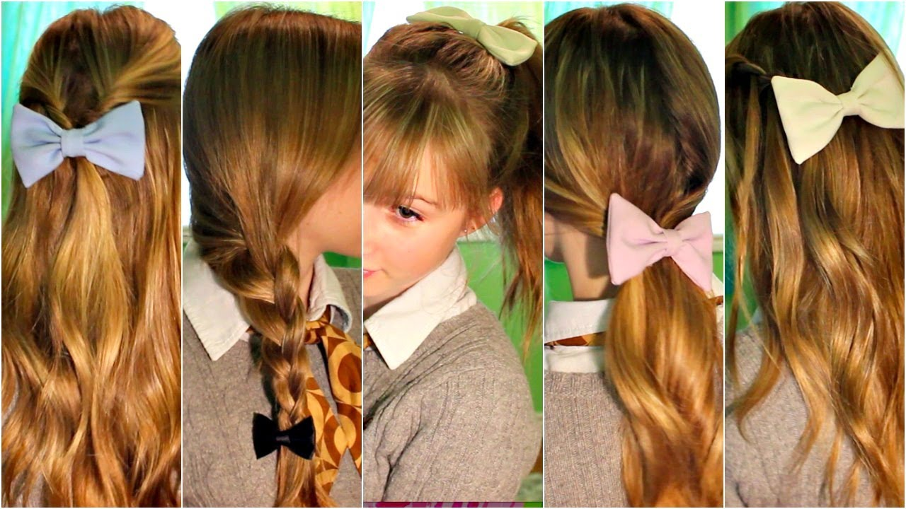 SIMPLE FALL HAIRSTYLE QUICK Amp EASY HEATLESS HAIRSTYLES FOR SCHOOL