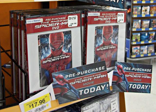 #SpiderManWMT , movie, dvd, The Amazing Spider Man, Walmart