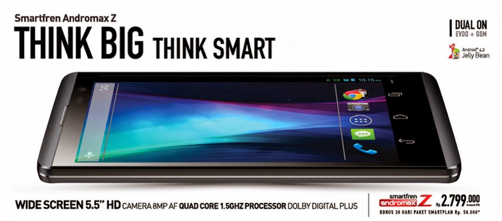 Smartfren Andromax Z Quad Core 8 MP | Harga Spesifikasi