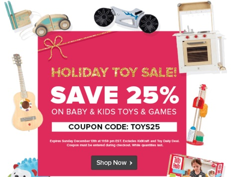 Well.ca Holiday Toy Sale Extra 25% Off Promo Code