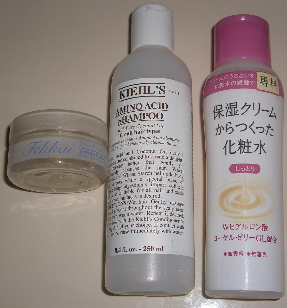 Blushed Wombat What I Finished This Month Kiehls Amino Acid Conditioner Shampoo Hada Senka Lotion Frederic Fekkai Mask