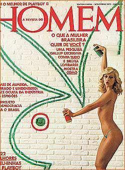 Confira as da Branca, capa da Revista Homem de novembro de 1977!
