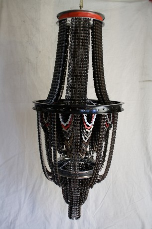 Chandeliers From Bicycle Chains