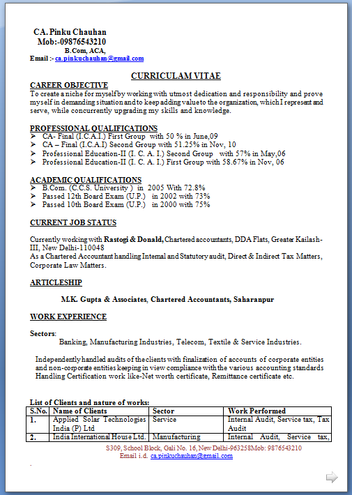 Sample Resume In Word   Resume Formatting Matters