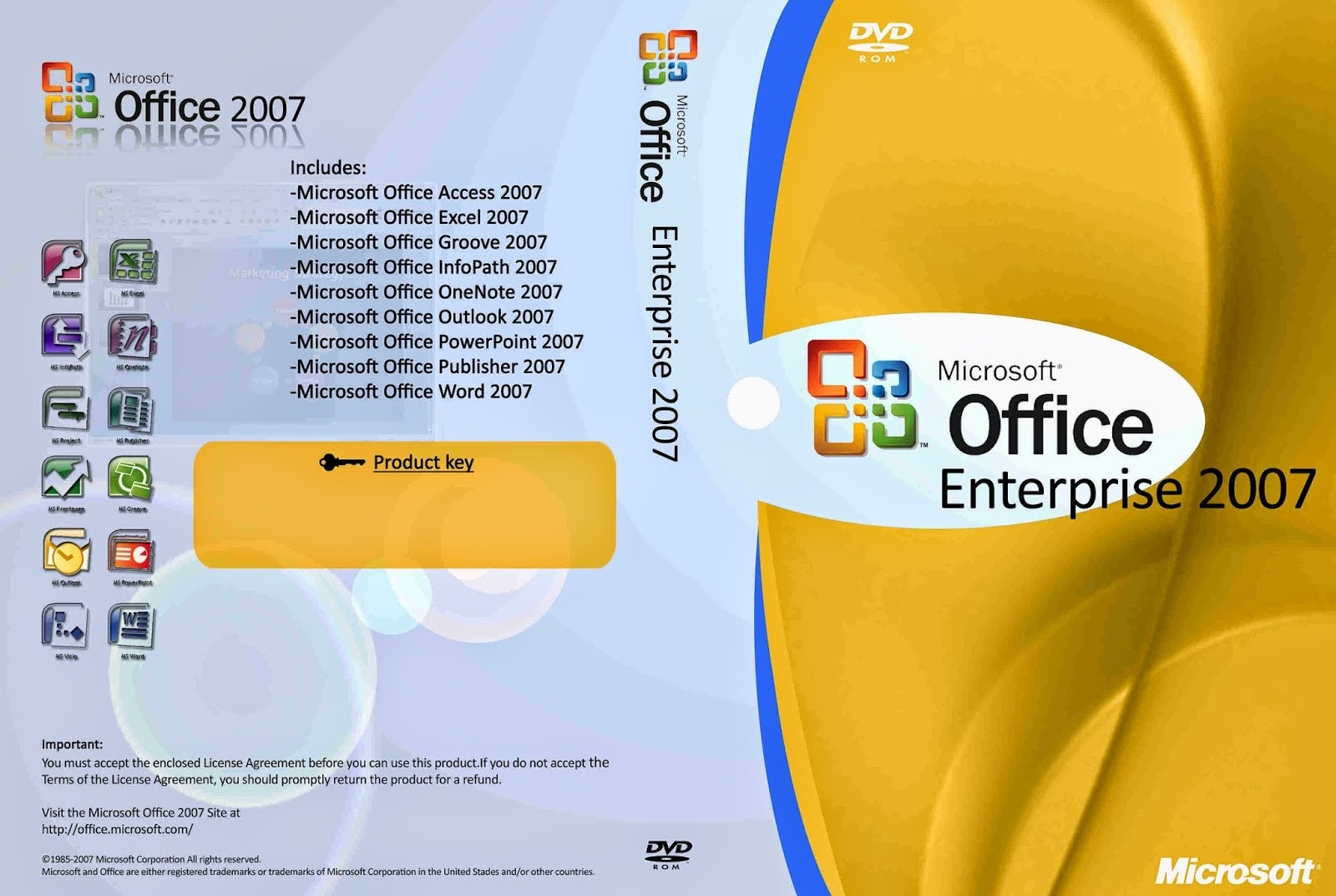office enterprise 2007  Free Download Cover Designer: Microsoft Office 2007 - Enterprise