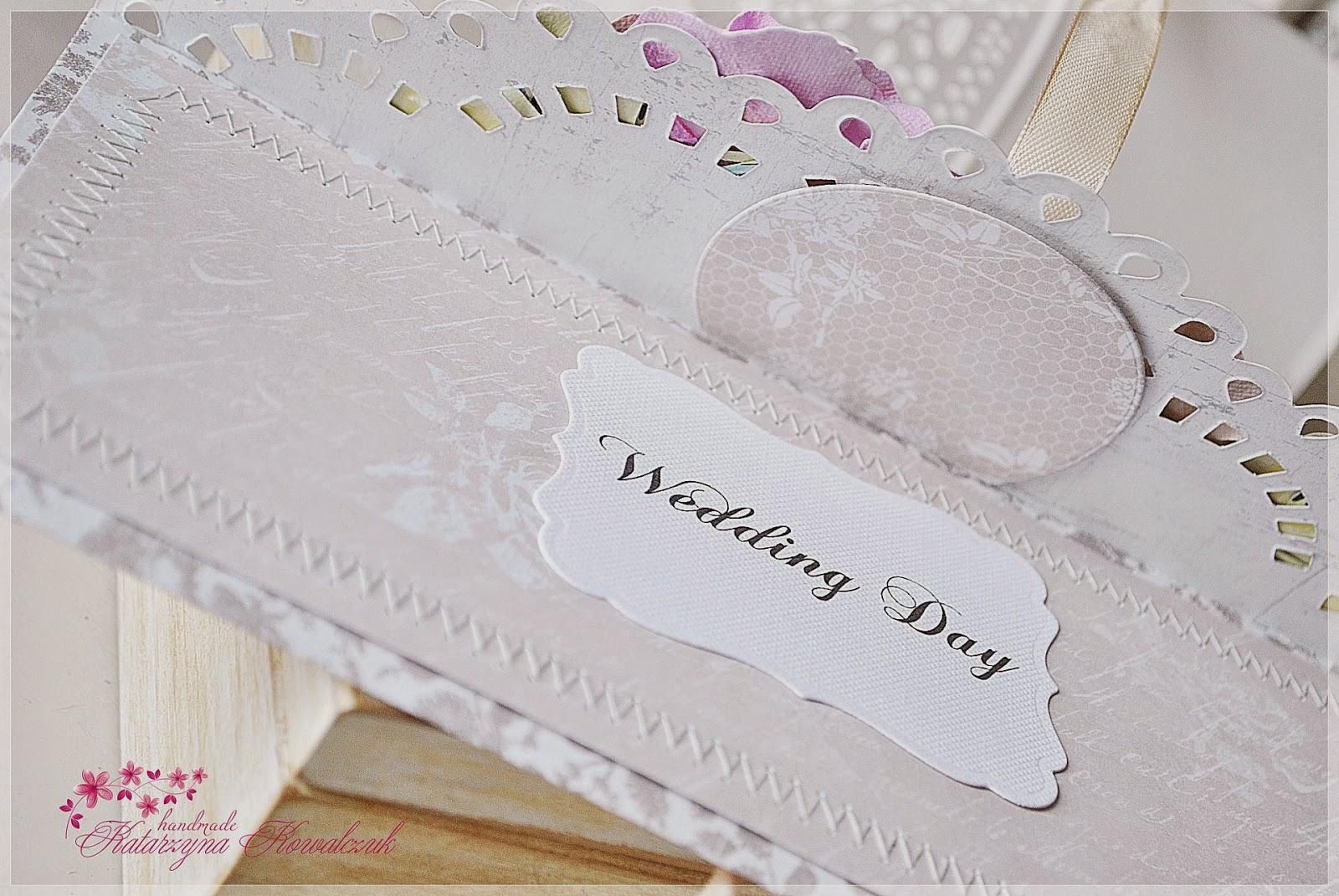 kartka kopertówka ślubna scrapbooking