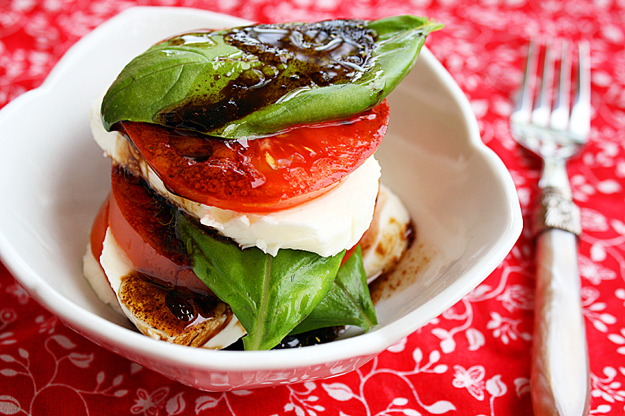 Caprese Salad With Basil Vinaigrette Recipes — Dishmaps
