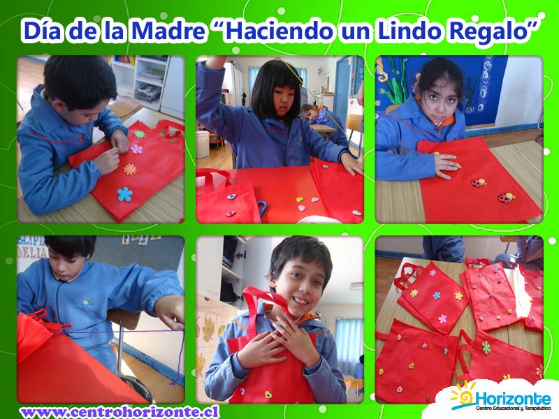 Los niños decoraron unas lindas bolsas para mamá, algunas las