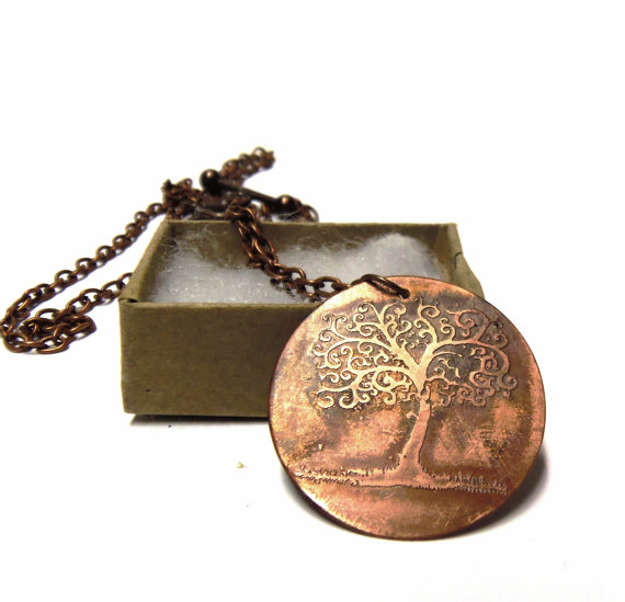 Tree of Life necklace rustic copper