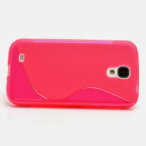 S-Curve Soft TPU Jelly Case for Samsung Galaxy S 4 IV i9500 i9502 i9505 - Pink Transparant