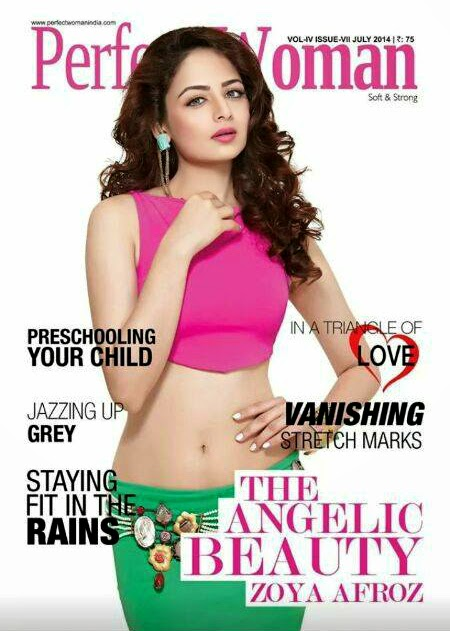 Zoya Afroz on Perfect Woman Cover wearing Rejuvenate Jewels