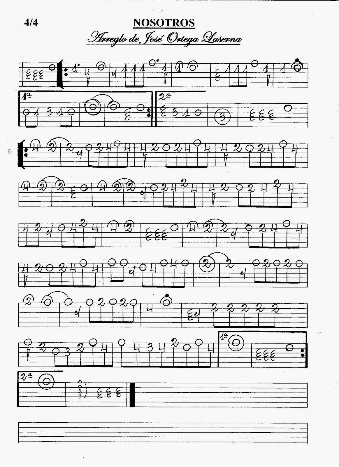 Partituras En Cifra Para Bandurria Y Laud De Jose Ortega Laserna Octubre 2014