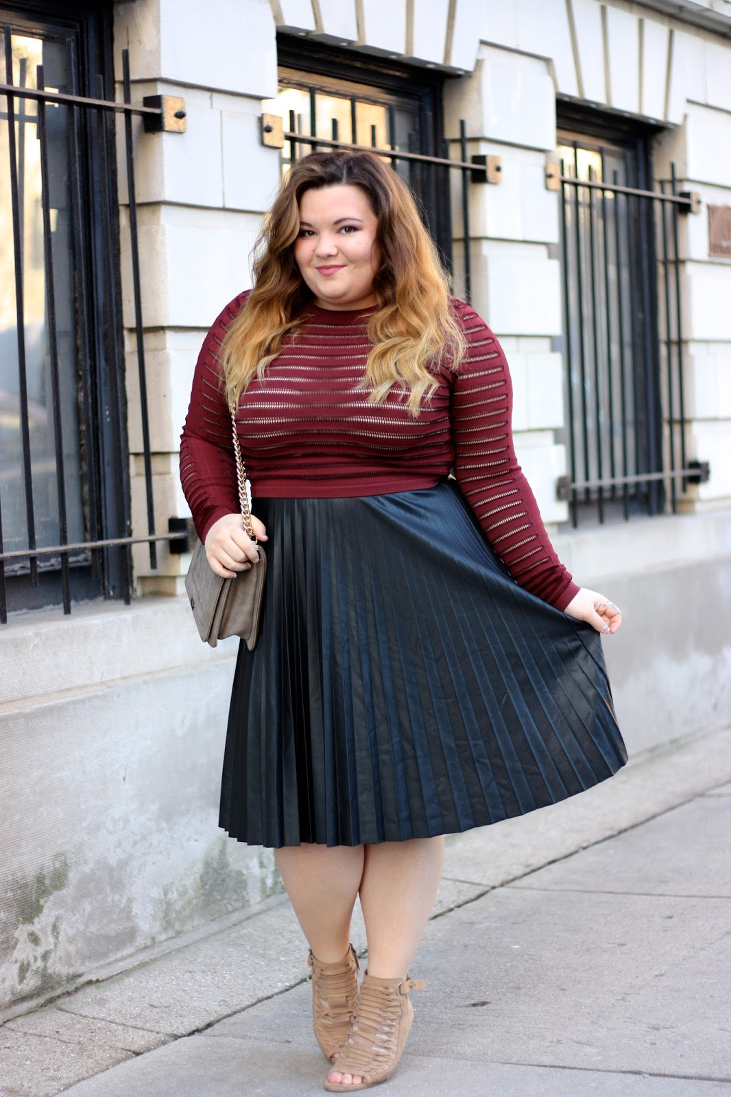 Leather Pleats Natalie In The City A Chicago Plus Size