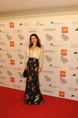 Lara Bohinc wearing maxi skirt
