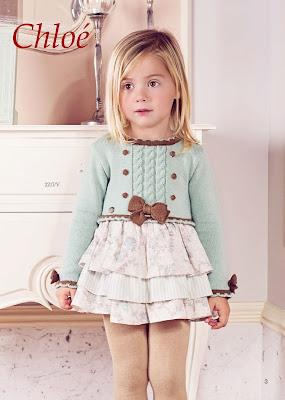 vestido niña volantes