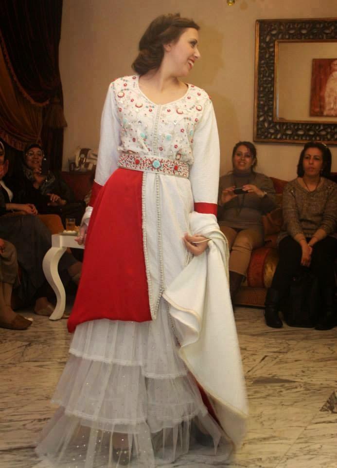 Caftan de mariage blanc 2015 robes sur mesure boutique for Robes de mariage haut de gamme