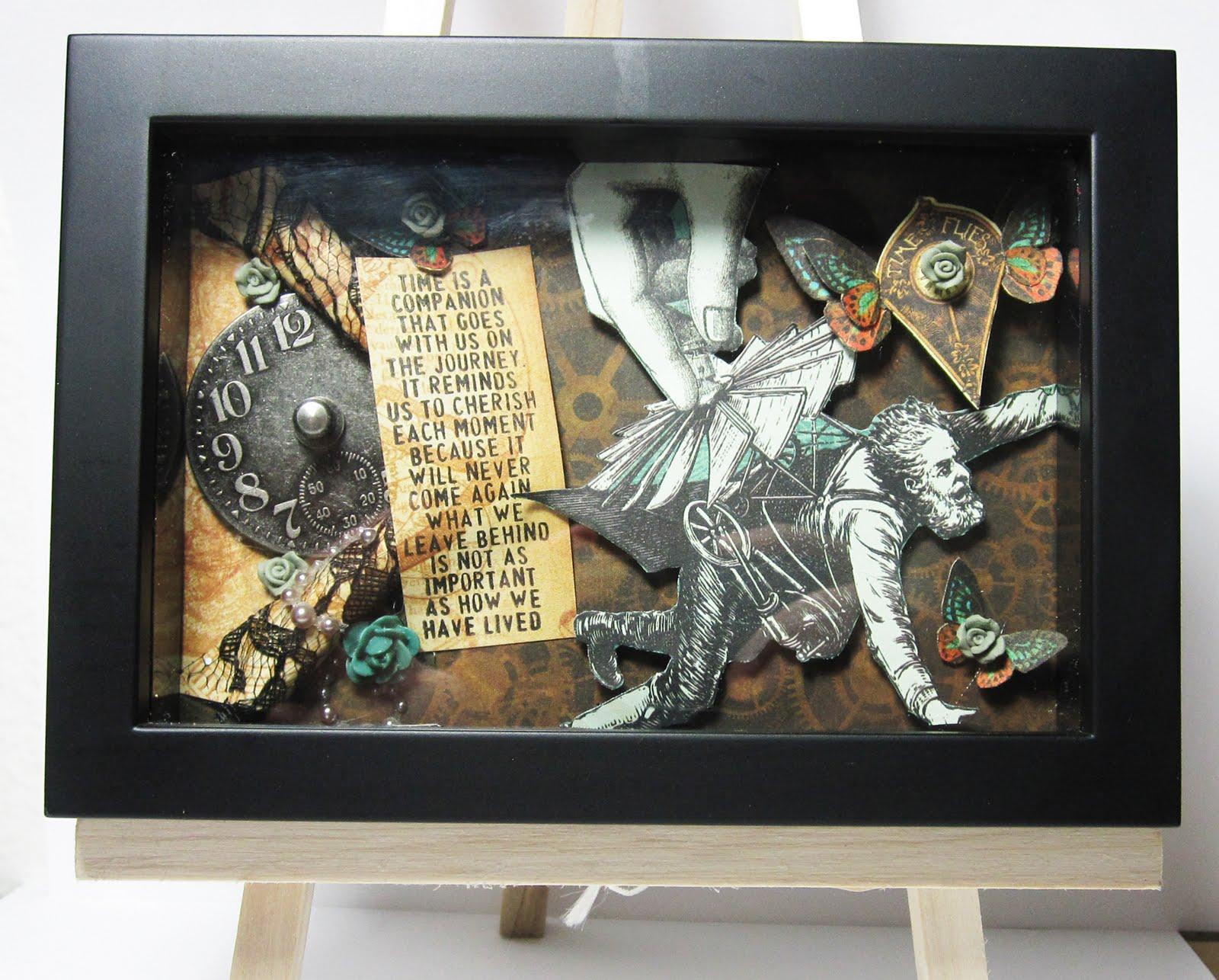 Tiffanys Paper Designs: Steampunk Shadow Frame