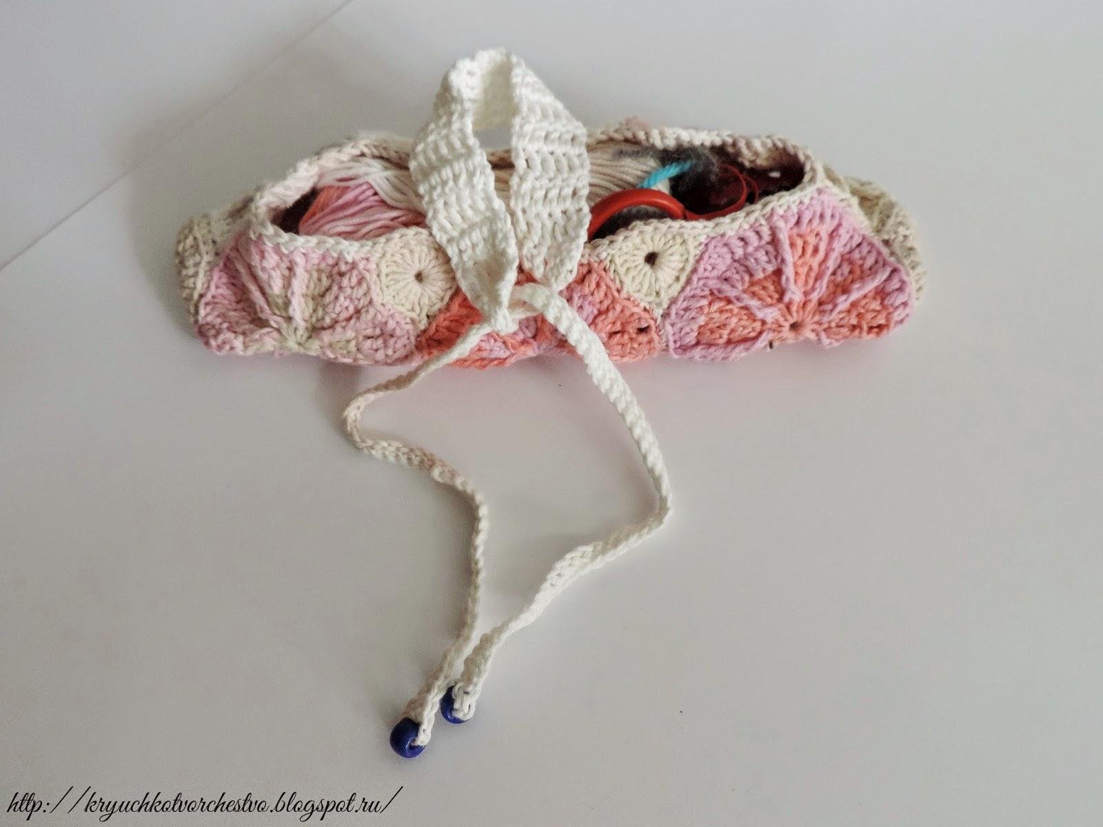 вязание крючком, пенал для вязания