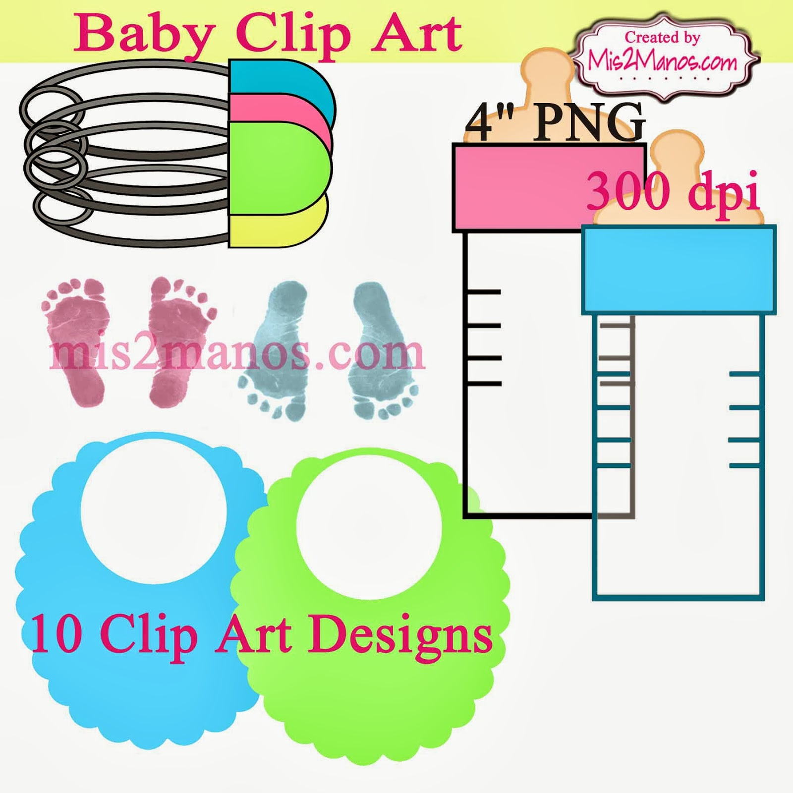 made by my hands baby clip art digital clipart diaper pins bib baby