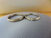 シンプル 結婚指輪 名古屋 有名 人気 プラチナ 鍛造 ダイヤ キレイ