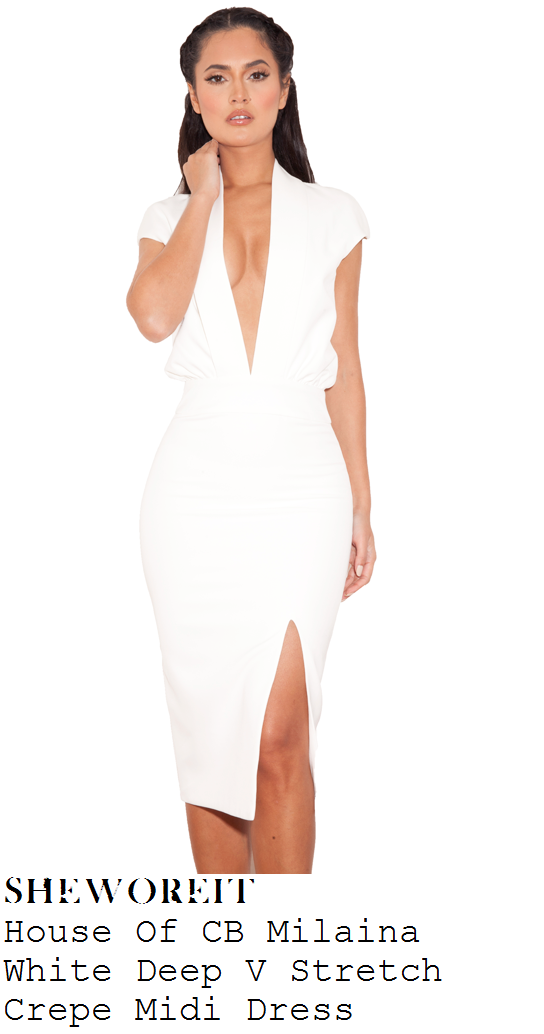 chloe-goodman-white-plunge-front-cap-sleeve-thigh-split-midi-dress