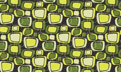 Retro green pattern