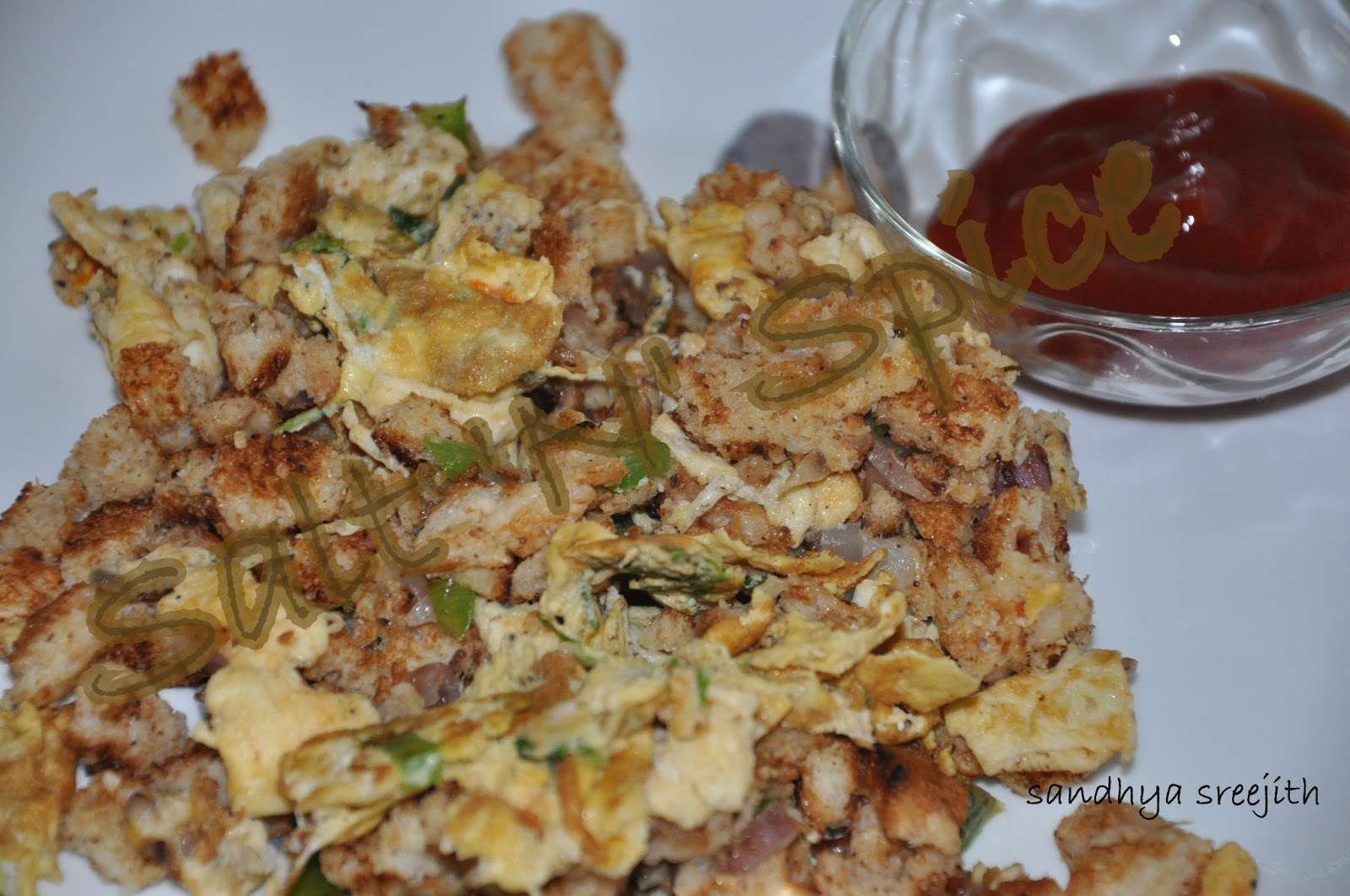 how to make bread upma indian