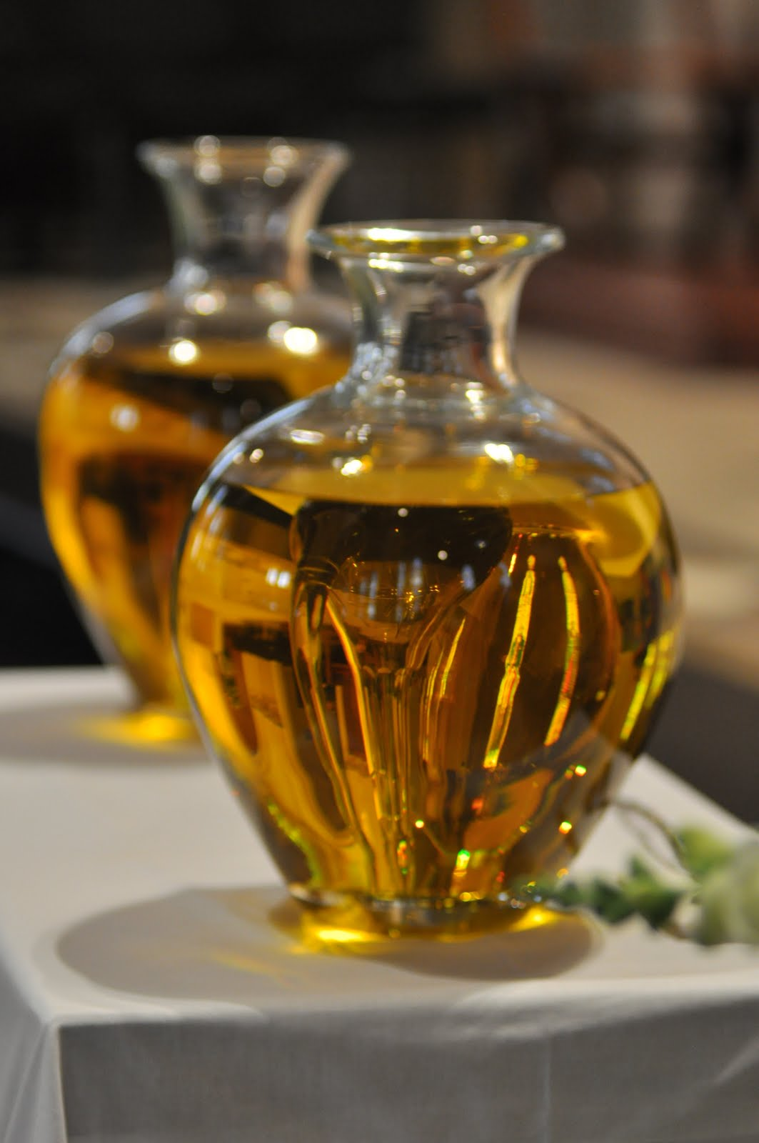 how to use holy oil