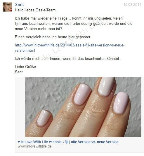 essie - fiji - Statement von essie Deutschland