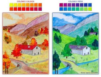 Plasticaenred el color colores c lidos y colores fr os - Colores frios y colores calidos ...