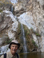 Dan Simpson at Fish Canyon Falls, Angeles National Forest, December 24, 2015