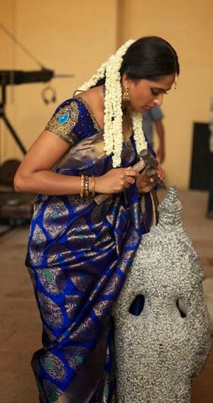 Actress Anuska in Chennai Silk Saree