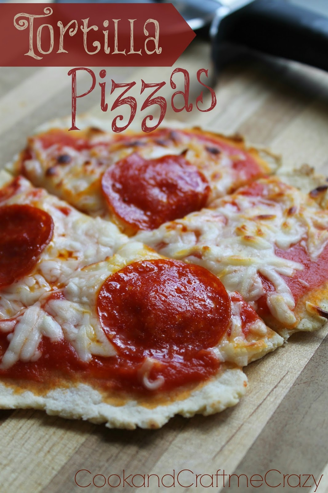 Tortilla Pizzas Recipe — Dishmaps
