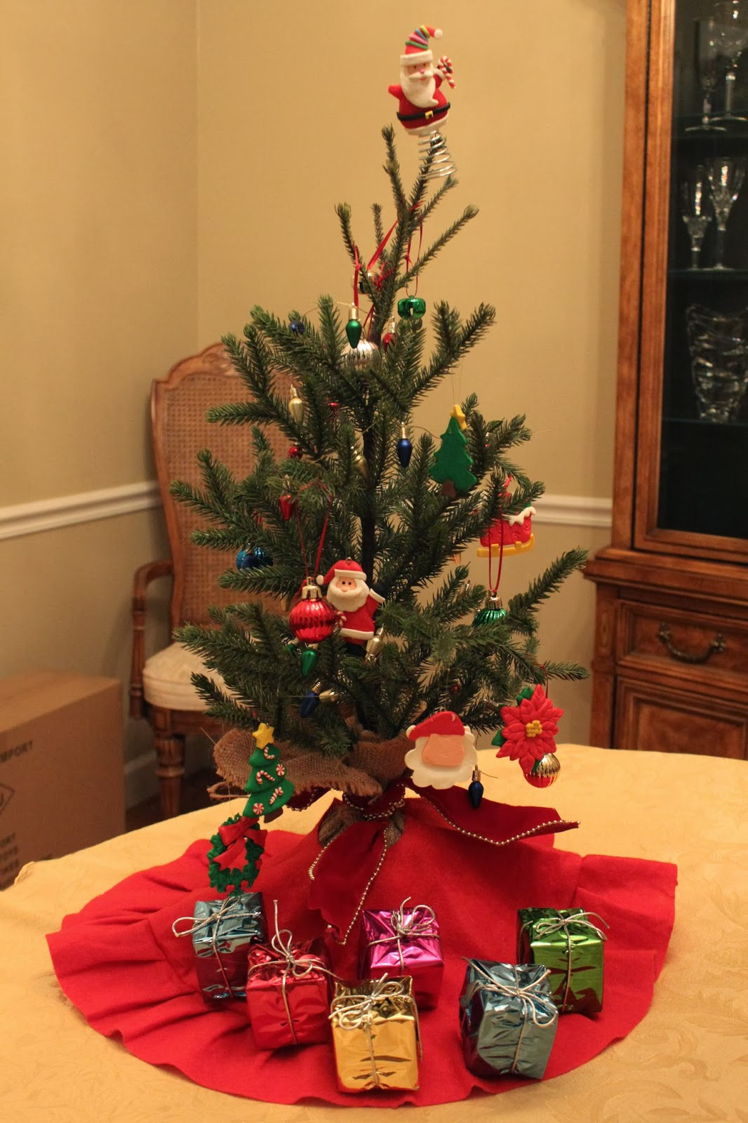 Little Christmas Trees Part - 50: I Found The Tree Skirts In The Dollar Section At Target And The Little  Presents Under Trees Came From Hobby Lobby. They Were Meant To Be Ornaments  So We ...