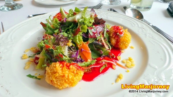 Mesclun Greens Salad in Raspberry Vinaigrette Dressing with RiCo Corn Rice Pops