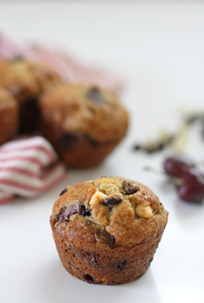 Everyday Reading: Double Chocolate Cherry Muffins