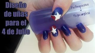 diseño uñas 4 de julio