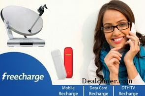 Recharges & Bill Payments Rs. 50 Cashback on Rs. 100 – FreeCharge