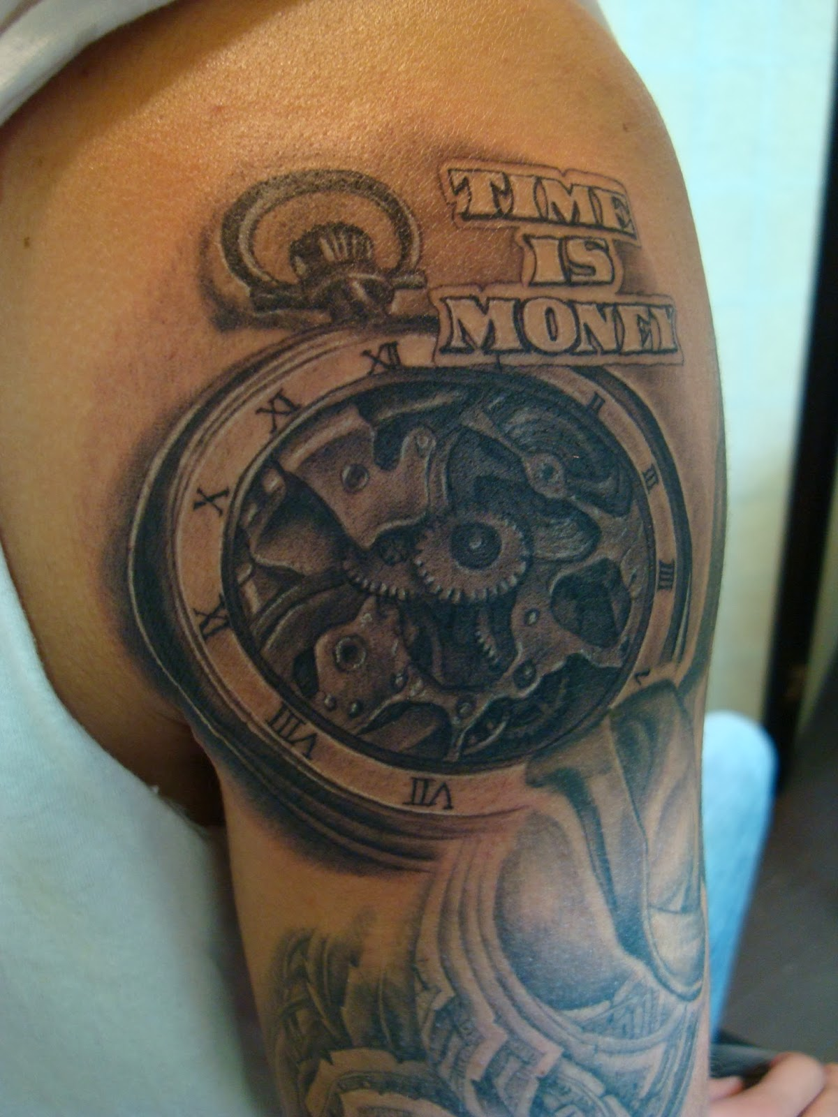 Welcome to krazy k tattoo blog time is money for Time is money tattoo